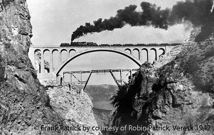 Railways in Iran: Garratt on Veresk bridge