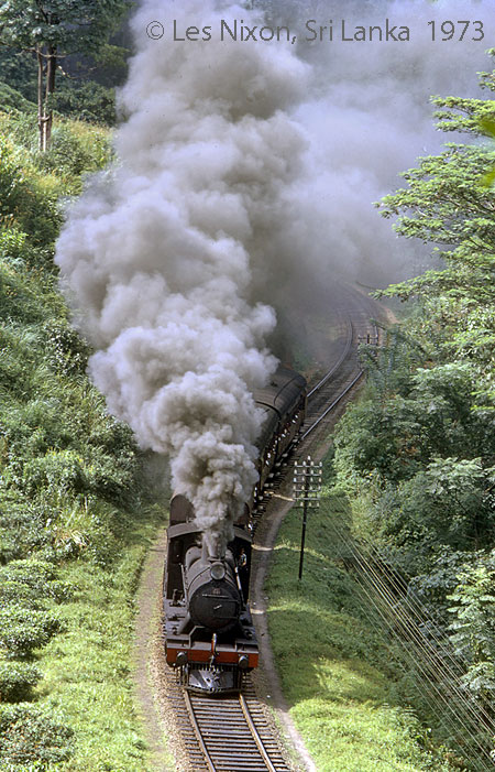 Steam in Sri Lanka, photo: Les Nixon August 1973