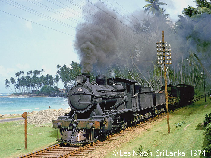Steam in Sri Lanka, photo: Les Nixon May 1974