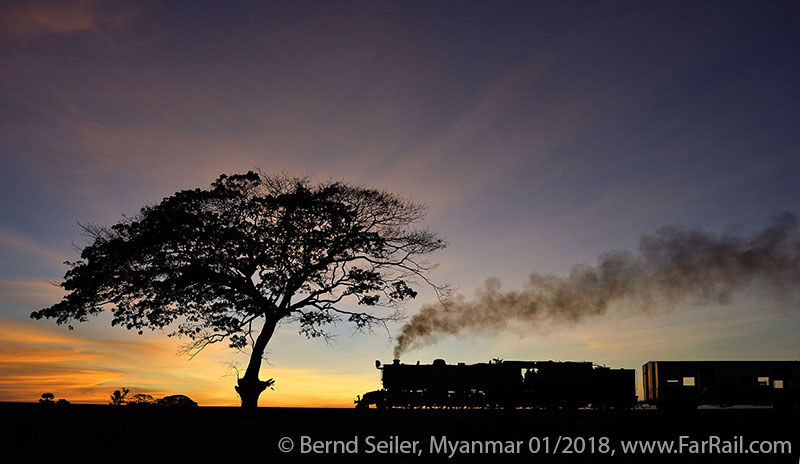 Mainline steam in Burma/Myanmar