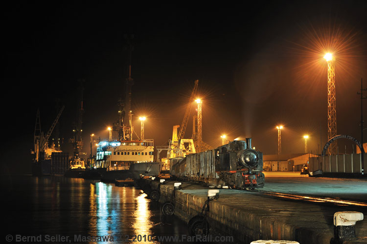 night in the harbour of Massawa