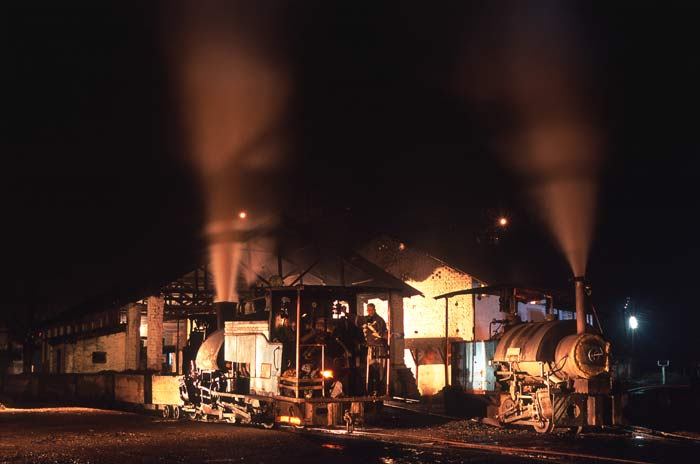 Tipong Coal Mine by night, March 2004