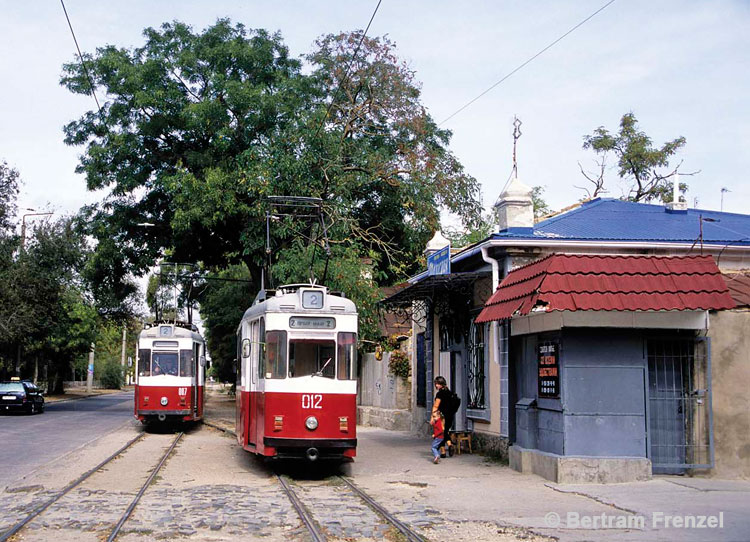 old east German trams in Ukraine