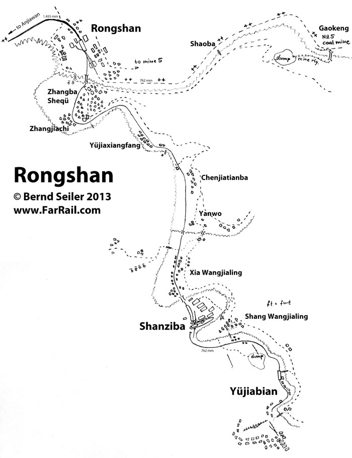 map Rongshan narrow gauge line